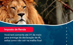 Voce Tem Somente Ate 31 De Maio Para Entrega Da Declaracao De Ir Saiba Como Nao Cair Na Malha Fina 1 - Contabilidade em São Paulo | Decisiva Assessoria e Consultória Contábil