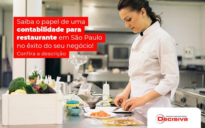 Contabilidade para restaurante em São Paulo